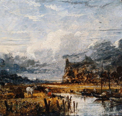 Joseph Paul (British, 1804-1887) River landscapes, a pair the first 21.1 x 22.5cm (8 5/16 x 8 7/8in), the second 18 x 23cm (7 1/16 x 9 1/16in), (2).