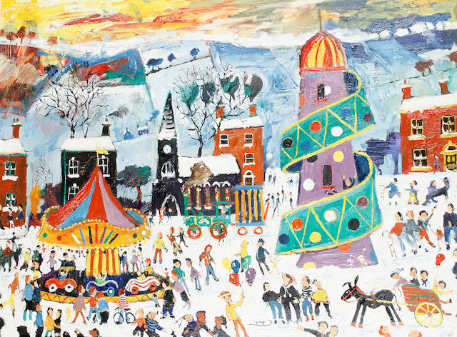 Simeon Stafford (British, born 1956) Fair in the Snow
