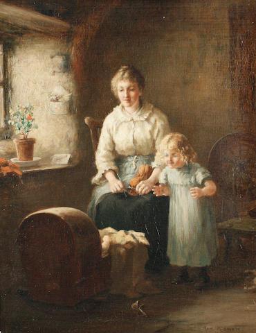 Tom McEwan, RSW (British, 1846-1914) The new arrival