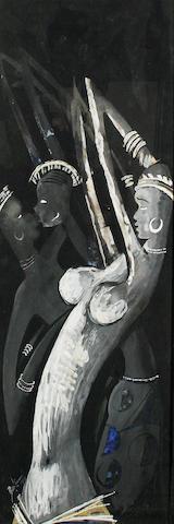 Benedict Chukwukadibia Enwonwu, M.B.E (Nigerian, 1921-1994) African dancers