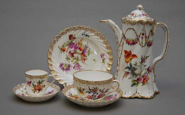 A Dresden part tea and coffee service
