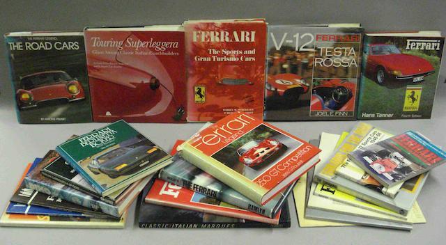 A quantity of Ferrari literature,