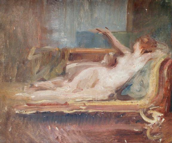 Albert de Belleroche (British, 1864-1944) 'Study of a nude'
