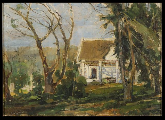 (n/a) Pieter Willem Frederick Wenning (South African, 1873-1921) House in the woods