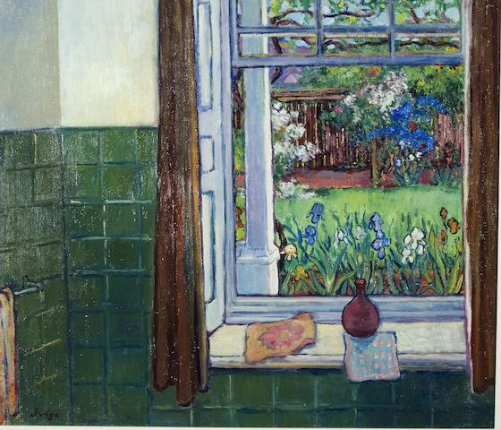 Francois Krige (South African, 1913-1994) Garden at Montagu from the artist's bathroom