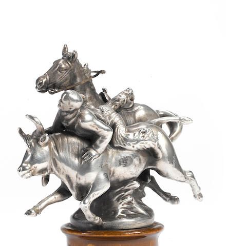 A rare 'Rodeo' mascot cast by John Dore, sculpted by Charles Paillet, French, circa 1920,