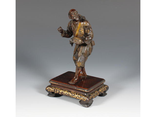 A Japanese mixed metal figure by Miyao Meiji period.