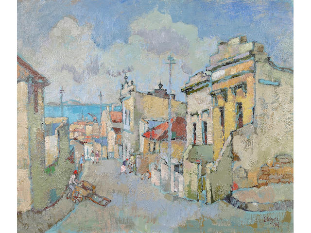 Gregoire Johannes Boonzaier (South African, 1909-2005) Caledon street, District Six, Cape Town
