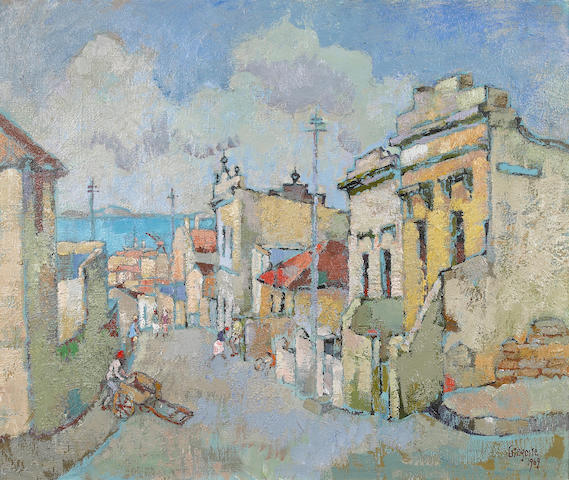 (n/a) Gregoire Johannes Boonzaier (South African, 1909-2005) Caledon street, District Six, Cape Town