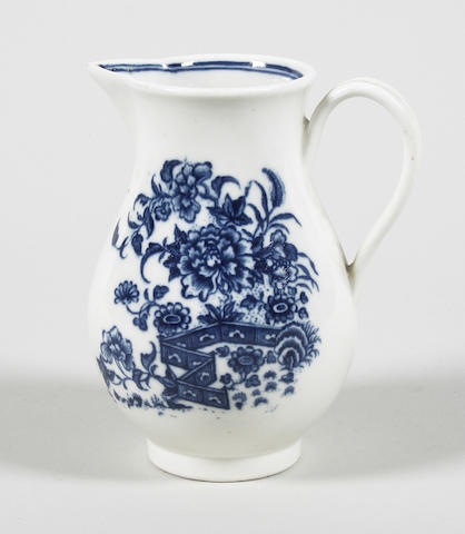 A Caughley milk jug Circa 1785-90.