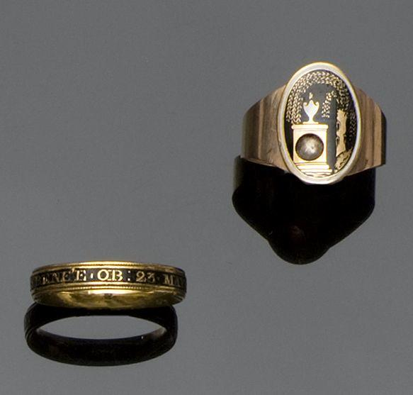 Four late 18th and 19th century mourning rings