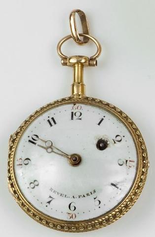 Revel a Paris: A gold fob watch