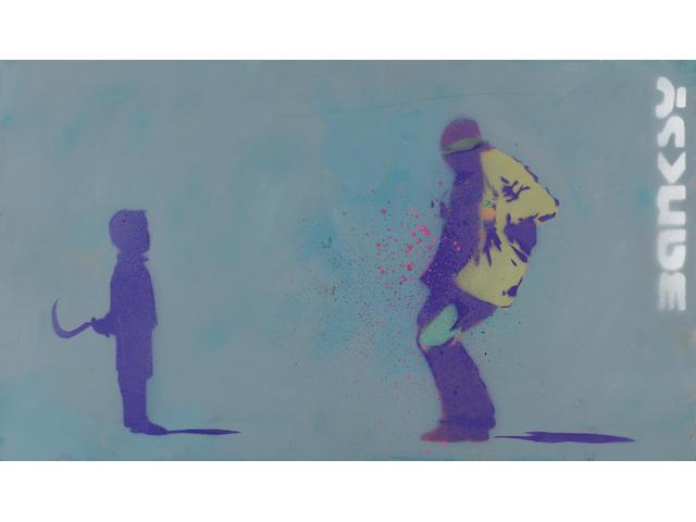 Banksy (British, born 1975) 'Sickle Kid', circa 1999