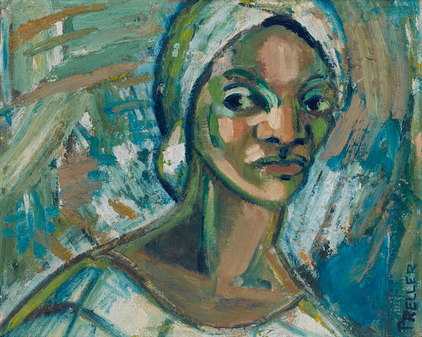 Alexis Preller (South African, 1911-1975) Study of woman
