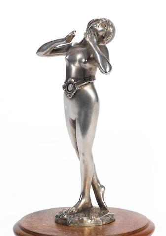 Beautiful Nude girl car mascot,