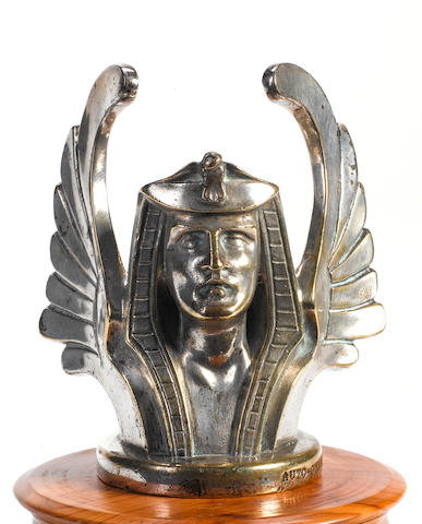 An outstanding Egyptian mascot- 'Enigme' Winged bust by Sasportas,