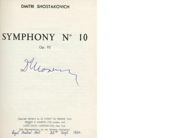 SHOSTAKOVICH (DMITRI) 1st Symphony, op. 10; 6th Symphony, op. 53; Symphony No. 10, op. 93; Concerto
