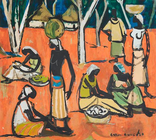 Maurice Charles Louis van Essche (South African, 1906-1977) Congo market