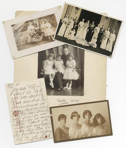 ROYALTY Collection of approximately 100 photographs of members of European royalty, together with several postcards, relating to the royal nanny Kate Fox