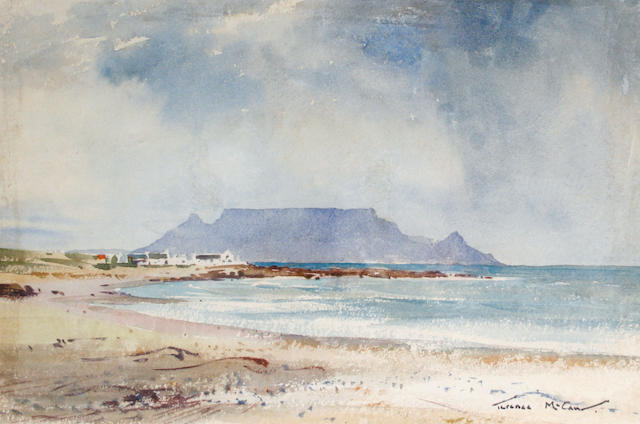 (n/a) Terence John McCaw (South African, 1913-1978) Table Mountain