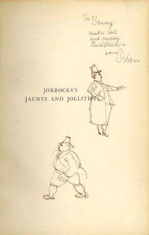 WELLES (ORSON) SURTEES (ROBERT SMITH) Jorrocks's Jaunts & Jollities, PRESENTATION COPY FROM ORSON WELLES TO BERNARD HERRMANN