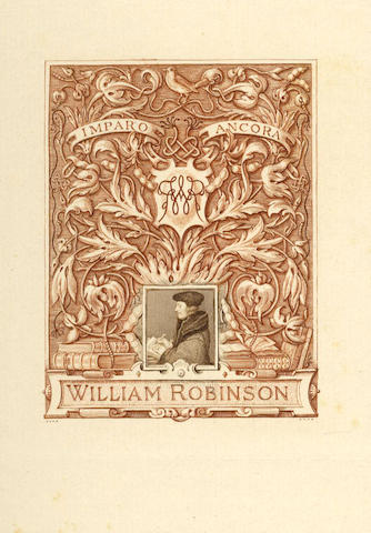 BOOKPLATES SHERBORN (CHARLES WILLIAM) An album containing 205 engraved bookplates and 2 larger engra