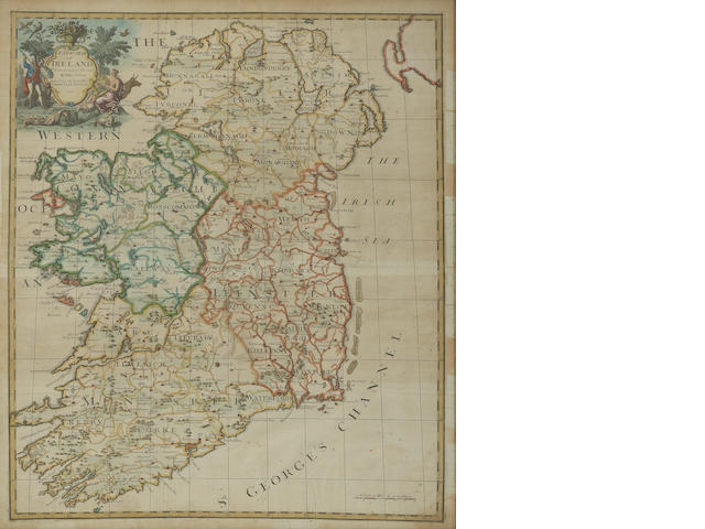 John Senex (1678 - 1740) A New Map of Ireland from the Latest Observations