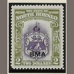 North Borneo: 1883-1965 A mint, used and c.t.o. collection in mixed condition mounted on leaves inc. sets and part sets inc. a range of early issues, later pictorial definitives, values to $10, surcharges and overprints, 1945 B.M.A. set mint used and on cover, also mint values to $1 in blocks, later sets to $10, also some Sabah issues, etc.  (444)