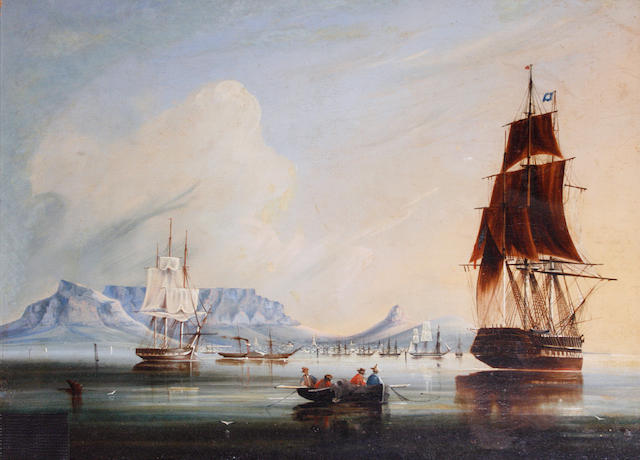 William Syme (South African, active circa 1848-1858) Table Bay, Cape Town