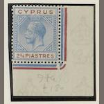 Cyprus: 1921-3: 2¾pi. unmounted mint with broken bottom left triangle variety. (1044)