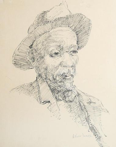 Alexander Rose-Innes (South African, 1915-1996) Portrait of a gentleman