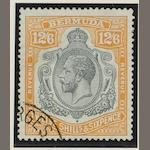 Bermuda: 1924-33: 12/6 used (SG.93) with two short perfs. (874)