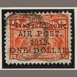 Newfoundland: 1919: Airpost $1 on 15c. (slight thin) and 1921 Halifax airmail 35c. (both types). (894)