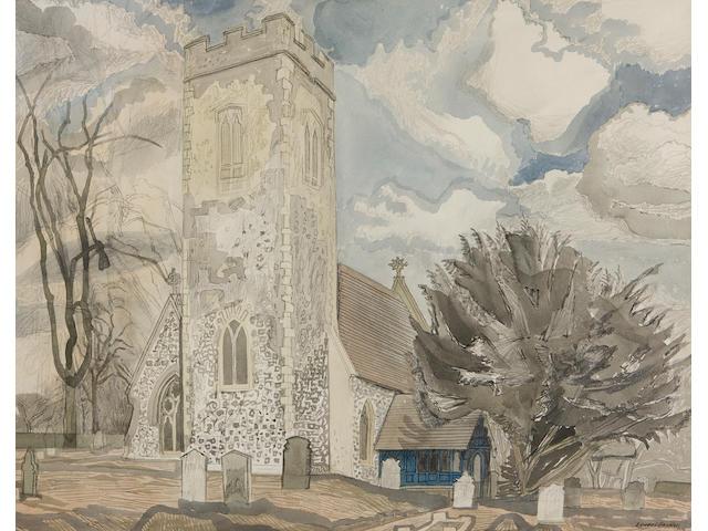 Edward Bawden, R.A. (British, 1903-1989) St Mary's Church, Marlingford