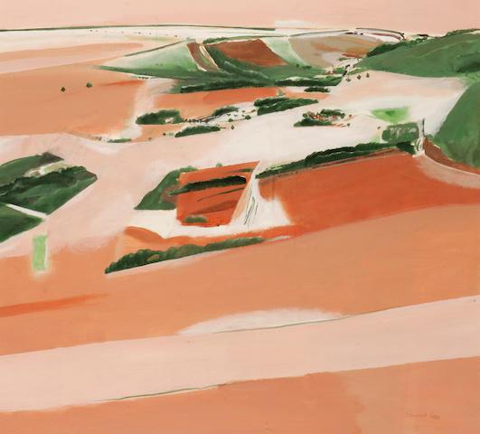 Stewart Lees (British, 1926-2008) The fields below