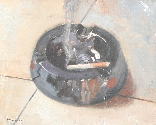 Ken Moroney (British, born 1949) Still life with ashtray