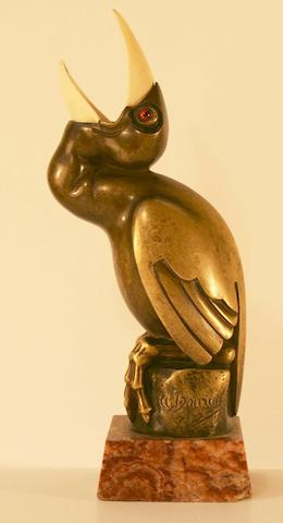 A superb 'L'abandonné' mascot by Marcel Bouraine, French, 1920s,