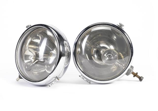 A fine pair of Lucidus electric headlamps, French, 1930s,