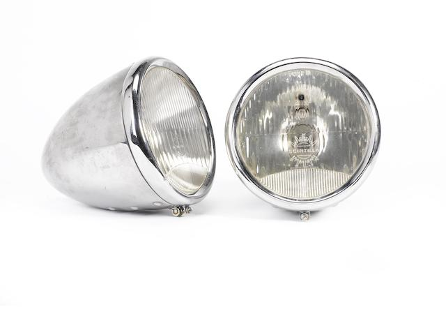 A pair of Scintilla electric headlamps, Swiss, circa 1930,