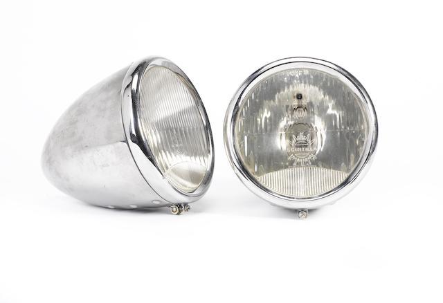 A pair of Scintilla electric headlamps, Swiss, circa 1930,