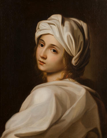 Follower of Guido Reni (Calvenzano 1575-1642 Bologna) A girl in a white turban, Beatrice Cenci