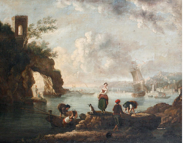 Follower of Carlo Bonavia (active in Naples 1751-1788), 18th Century An Italianate landscape, with f