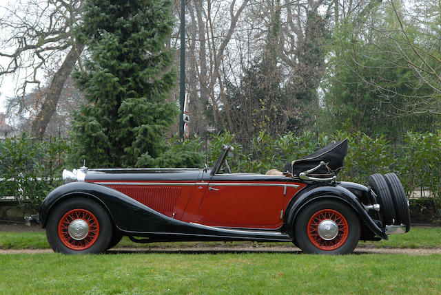 Coming from the Private Collection of Jean-Michel Cérède,1934 Mercedes-Benz 290 Cabriolet A  Chassis no. 212563