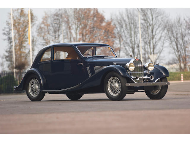 The ex-London Motor Show,1934 Bugatti Type 57 Sports Saloon  Chassis no. 57158 Engine no. 6692/71
