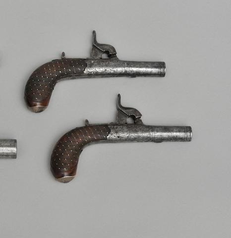 A Pair Of Percussion Pocket Pistols
