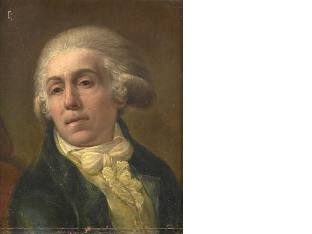 French School circa 1780, Portrait of a Man, 45 x 35 cm