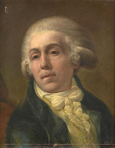French School circa 1780, Portrait of a Man, 45 x 35 cm