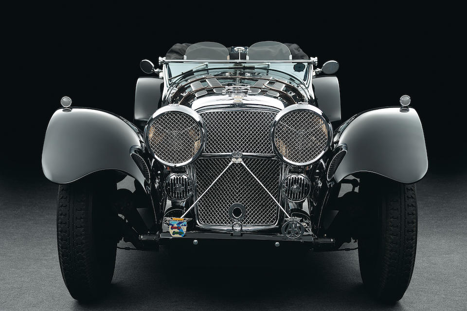 Raced at Brooklands by Ian Appleyard,1939 Jaguar SS100 Roadster