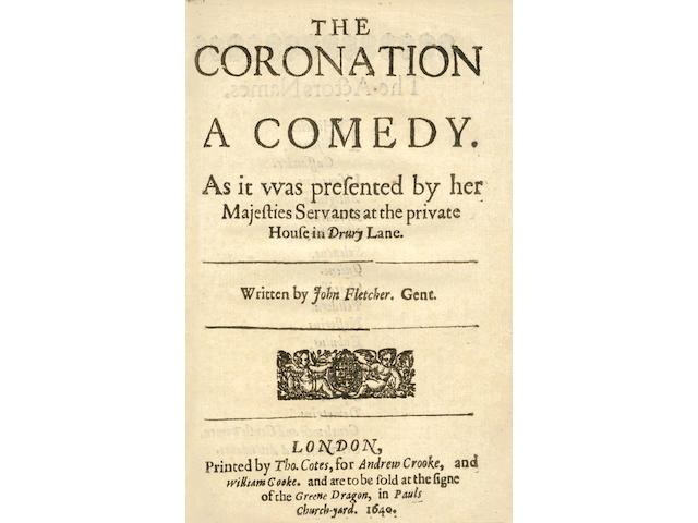SHIRLEY (JAMES)] The Coronation. A Comedy... Written by John Fletcher