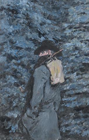 Jack B. Yeats R.H.A. (Irish, 1871-1957) The Saw Sharpener 35 x 23 cm. (13 3/4 x 9 in.)